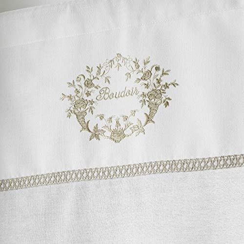 couleur montagne paire droite passe tringle 2x60x160cm voile romantique boudoir naturel