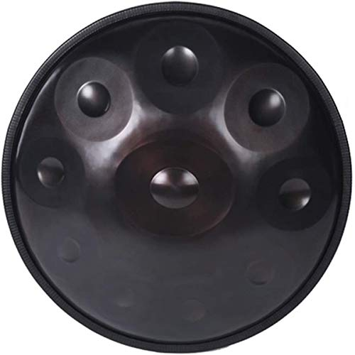 Tambor de Lengüetas Acero Tongue Drum, Handpan en el menor de D 10 Notas tambor de acero, 22inch / 56cm armónica percusión for Sound Healing, 10 Notas D3 A Bb C D E F G A, con suave bolsa Tongue Drum