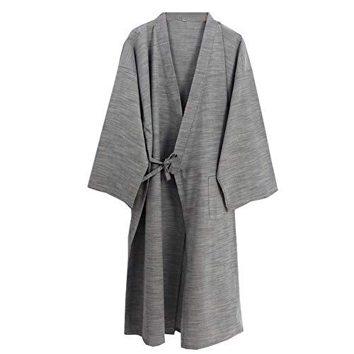 Fancy Pumpkin Kimono japonés Robe Long Yukata Pijamas, color Azul marino, -Talla M