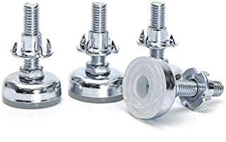 Furniture Levelers Adjustable Furniture Legs,Heavy Duty Furniture Leveler Tee Nut Kit 3/8-16 inch Thread Size,4 Pack with T-nut (4)