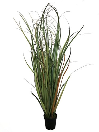 Best Artificial 4ft / 120cm PVC Two Tone Elephant Grass Reed Rush Plant