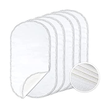 TILLYOU 6PK Larger Softer Changing Pad Liners Waterproof 27  x 13  Washable Reusable Flannel Cotton Changing Table Cover Liners Leakproof Portable Baby Changing Mat for Boys Girls White