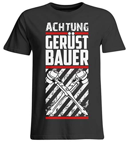 generisch Achtung Gerüstbauer - Camiseta de manga larga Negro profundo. XXXXXL