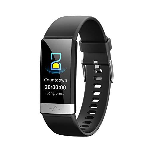 FJFFZ Smartwatch Donna Smart Watch Orologi Uomo IP68 Impermeabile Contapassi Sport Monitoraggio del Sonno Chiamata Promemoria Foto Telecomando Foto per Anziani,Nero