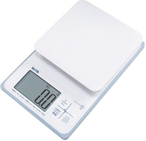 タニタ クッキングスケール キッチン はかり 料理 防水 デジタル 2kg 0.1g単位 KW-220 WH 洗えるキッチンスケール