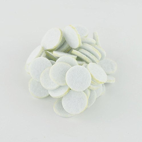 SAMYO Essential Oil Aromatherapy Diffuser Locket Necklace Refill Pads- White- 50 Piece