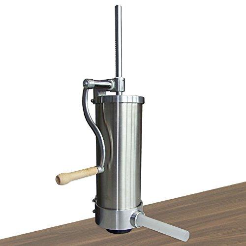 BURI Wurstfüllmaschine Edelstahl 3 kg manueller Wurstfüller Wurstpresse Wurstspritze