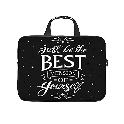 """Be Just The Best Positive 10InchLaptopSleeveCaseProtectiveCoverCarryingBagfor9.7""""10.5""""IpadProAir/10""""MicrosoftSurfaceGo/10.5""""SamsungGalaxyTab"""