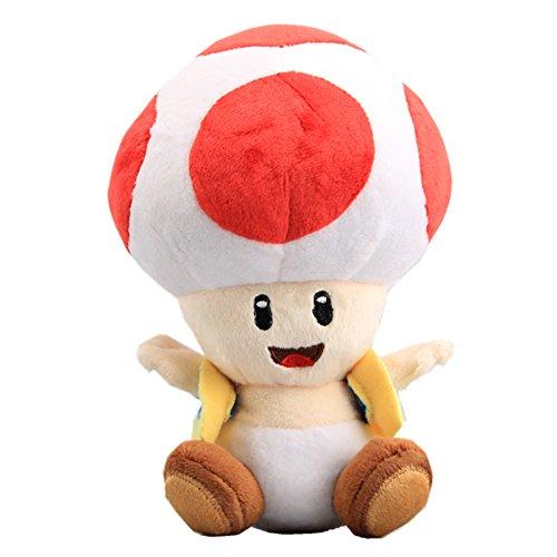 uiuoutoy Super Mario Bros. Red Toad Plush 7''