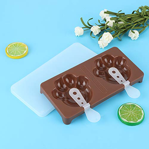 Ice Cream Mold, Safe and Durable Ice Cream Maker Quick Demoulding for Home for Kitchen(espresso)
