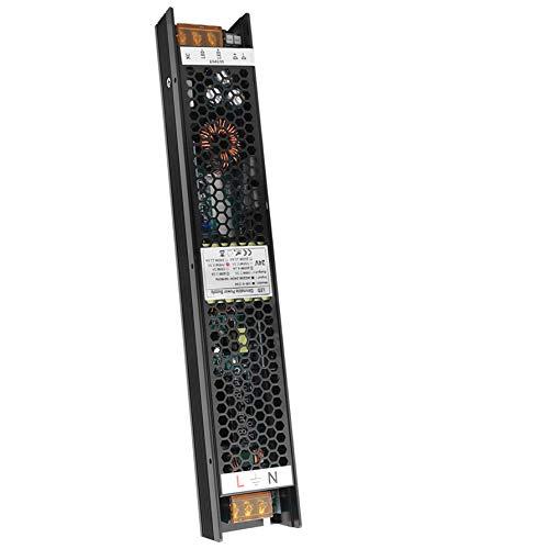 VARICART IP20 24V 8.3A 200W Controlador LED Regulable, Fuente de Alimentación Conmutada CA CC Regulada, Transformador de Salida Voltaje Constante, Apoyo TRIAC 2 en 1 y control de Atenuación de