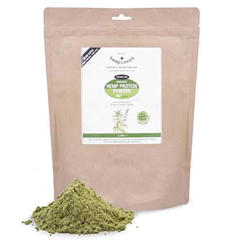 Hempiness Organic Premium Raw Hemp Protein Powder 2.5kg (54% Vegan Protein)