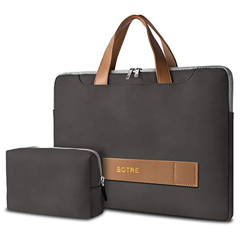 BOTRE 14-15.6 inch laptop bag, waterproof, multifunctional laptop bag, notebook bag, business briefcase, carry bag, laptop sleeve.