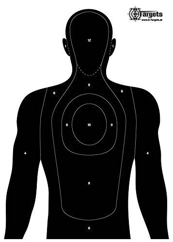 X-Targets Große Zielscheiben Human Silhouette / 50x70 cm/Papier 120g/m² (40 Stück)