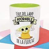 La Mente es Maravillosa - Taza con Frase y dibujo. Regalo original y gracioso (¡Soy del lado adorable de la fuerza!)