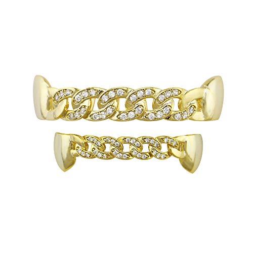 Gorras de Hip Hop para hombres Juego de rejillas dentales superiores e...
