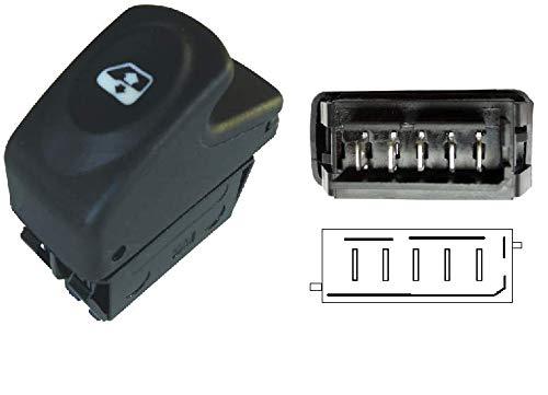 FFTH 5-Pin-Schalter für Fensterheber für Renault Clio Kangoo Megane 1 Dacia Logan