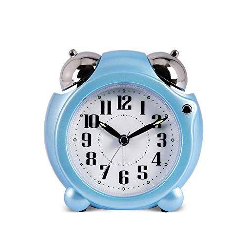 ZCZZ Reloj de Escritorio Reloj Despertador de Doble Campana, Anillo mecánico Reloj Despertador silencioso con Pilas, Funciones de repetición y luz, fácil de configurar el Reloj de Escritorio