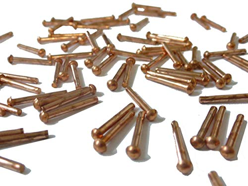 Remaches de cobre de 1/16' x 1/2' (100 por paquete)