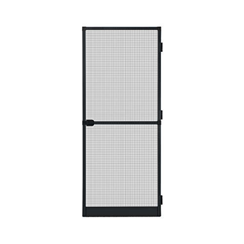 Fliegengitter Insektenschutz Tür Alurahmen Mückengitter Balkontür 100 x 210 cm anthrazit