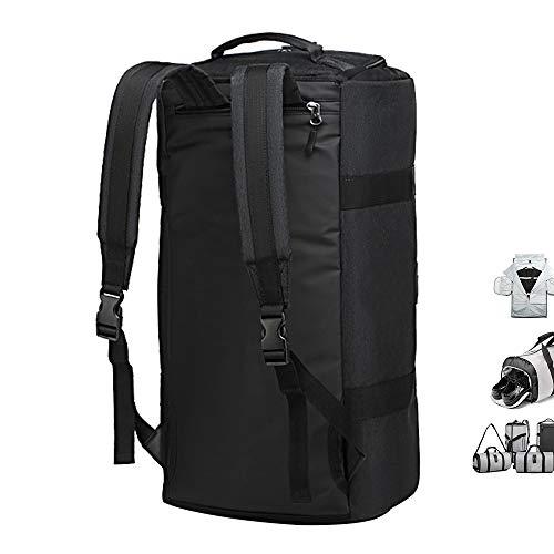 OZUKO Gym Bag Backpack, 4 in 1 Carry-on Garment Bag Large Duffel Bag Suit Travel Bag Weekend Bag Flight Bag Overnight Bag with Shoes Compartment… (Black)