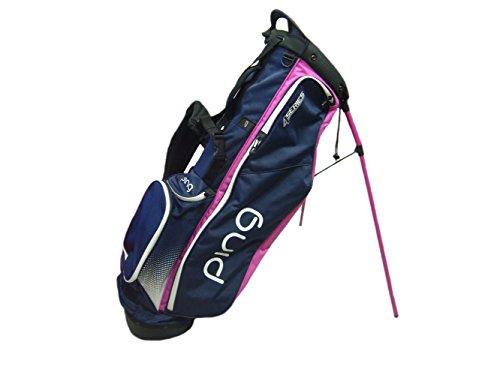 PING 2018 4 Series Standtasche, Herren, 33385-19, Marineblau/Weiß/Pink, Golf Bag