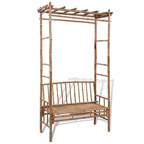 Anself Garden Pergola Bamboo Bench Seat