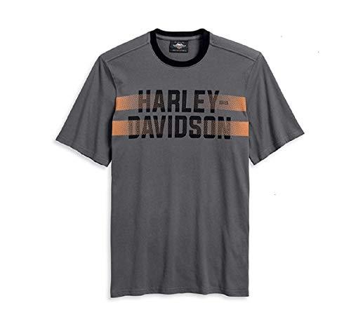 HARLEY-DAVIDSON Herren T-Shirt Kurzarmshirt Ringer-Halsausschnitt Auffällig Bwl, 2XL