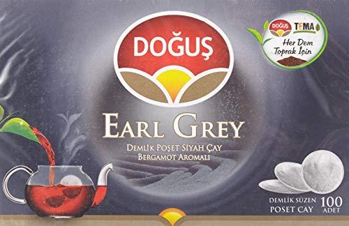 Dogus Earl Grey 100 Pads Beutel Schwarztee 320g - Türkischer schwarzer Tee Vorratspackung