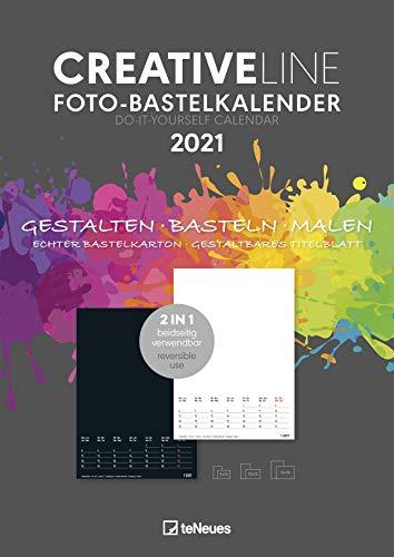 Foto-Bastelkalender 2 in 1 2021 - Kreativ-Kalender - DIY-Kalender - Kalender-zum-basteln - 21x29,7 - datiert