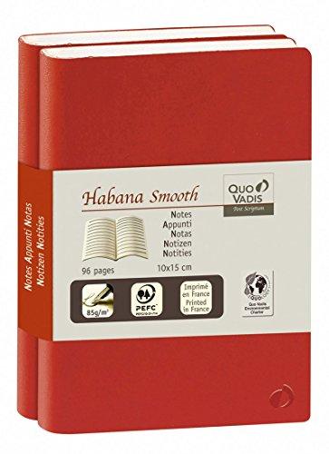 Quo Vadis Habana Smooth - Duo de cuadernos de notas 29, 21 x 29,7 cm, color rojo