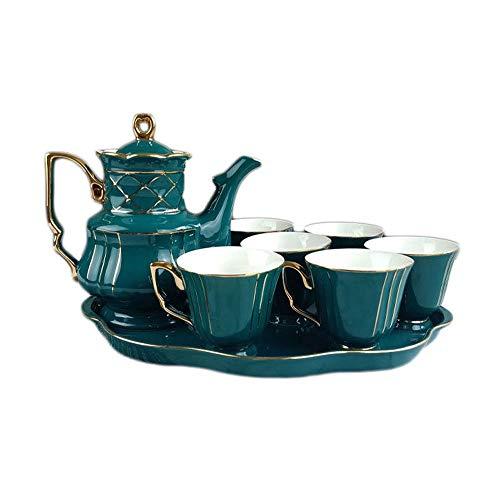 Best Price 8 Piece European Style Bone China Service Coffee Set Coffee Cup Saucer Set Ceramic Tea Se...