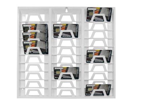 Carta supporto da parete per 30dipendenti Karten Bianco–Ideale per misurare il tempo timere COR Ding per ufficio stanze, officina, fitness studio ecc.