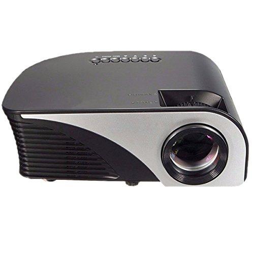 Video Projector,Dihome 1500 Lumens Projector 180' Mini Projector Multimedia Home Theater Projector USB/AV/SD/HDMI/VGA (HDMI Cable as Gift)-Black