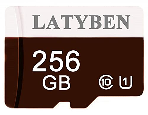 LATYBEN 256GB Class 10 Micro SD Card Memory Card with Free SD Card Adapter C10 Micro SDXC Card TF Card Flash Card for Android Smartphone Nintendo Switch Tablet Drone Camera (256GB)