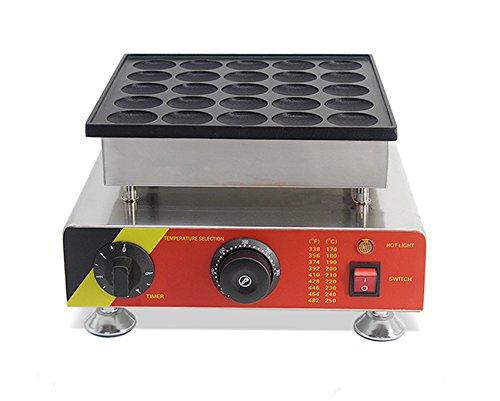 Welljoin 25pcs Commercial Electric Poffertje Mini Dutch Pancake Machine Maker Iron Baker (220V)