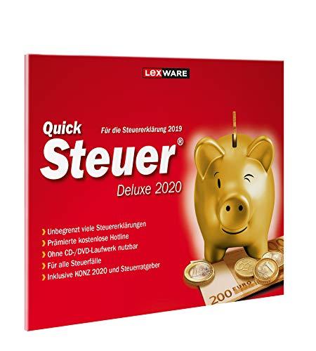 Lexware QuickSteuer Deluxe 2020 für das Steuerjahr 2019|in frustfreier Verpackung|Einfache und schnelle Steuer-Software für die private und gewerbliche Steuererklärung