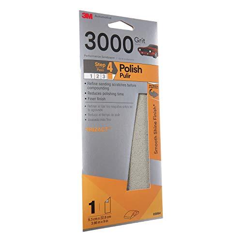 3M Trizact Performance Sandpaper, 03064, 3-2/3 in x 9 in, 3000 grit