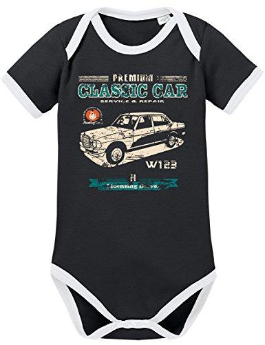 TSP Oldtimer Typ W123 Youngtimer Benz Kontrast Baby Body 86 92 Schwarz