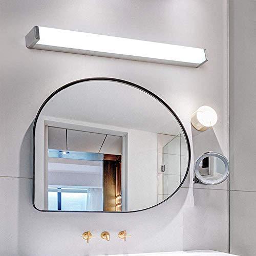 Espejo de luz LED con antiniebla a Prueba de Agua, Espejo de baño, Luces de gabinete, lámpara de Pared, iluminación de Maquillaje para Dormitorio, cálido, 80cm15w