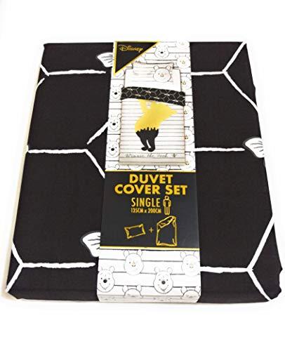 Licensed_Primark Disney Winnie The Pooh Reversible Duvet Cover Bedding Set Single Double King Size (Single 135cm x 200cm)