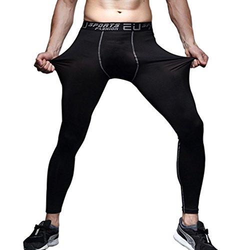 Bluestercool Männer Lauftraining Basketball Hosen Leggings Hose schnelltrocknende Hose (L)