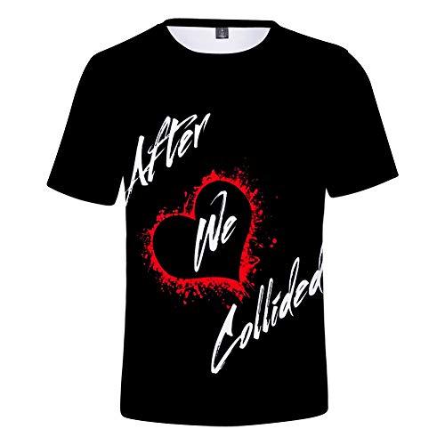 WAWNI 2020 After We Collided Camiseta 3D O-Cuello de los Niños Camiseta de Verano de Manga Corta Niñas Chicos Camiseta Harajuku Streetwear Ropa Romántica de Película Ropa
