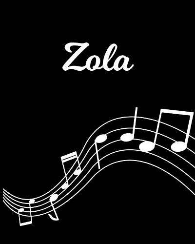 Zola: Sheet Music Note Manuscript Notebook Paper – Personalized Custom First Name Initial Z – Musician Composer Instrument Composition Book – 12 … Guide – Create Compose & Write Creative Songs