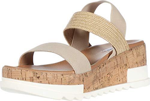 Steve Madden Elmira Wedge Sandal Natural 8 M