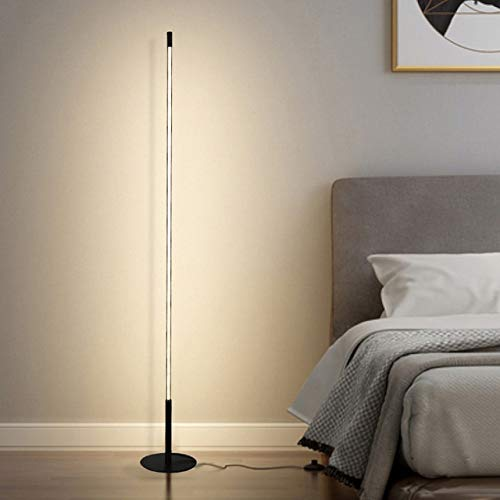 lampada da pavimento Soggiorno lineari Lampada da terra moderna semplicità lato del letto Camera LED lampada Verticale decorare Lampada da terra in piedi ( Body Color : Black , Color : Cold lamp )
