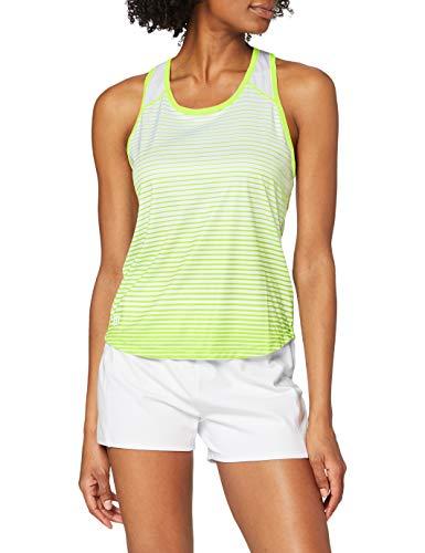 Wilson Damen Tennis-Tank Top, W Team Striped Tank, Polyester, Gelb/Weiß, Größe: XL, WRA766101