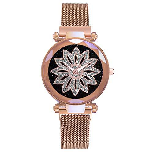 Damen Armbanduhr Mode Einfache Viel Glück Uhren Analoge Mesh Uhren für Frauen Edelstahl Band Uhr Armband Damenuhr 2019 LEEDY