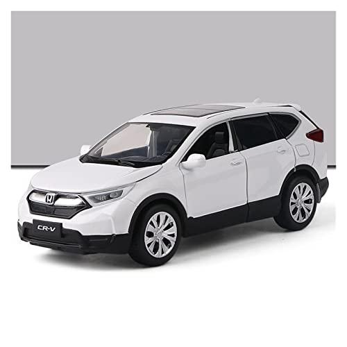 JYSMAM Modelo de coche de simulación 1:32 de aleación a presión modelos de coche para Honda CRV SUV Simulación Sonido y Luz Pull Back Toy (Color: Blanco)