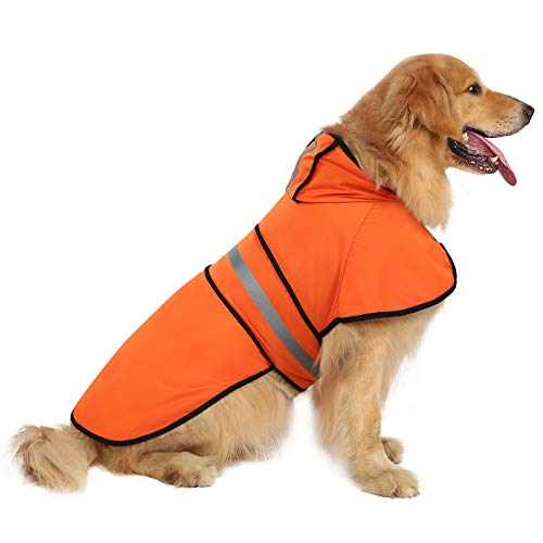 HDE Dog Raincoat Hooded Slicker Poncho for Small to X-Large Dogs and Puppies...